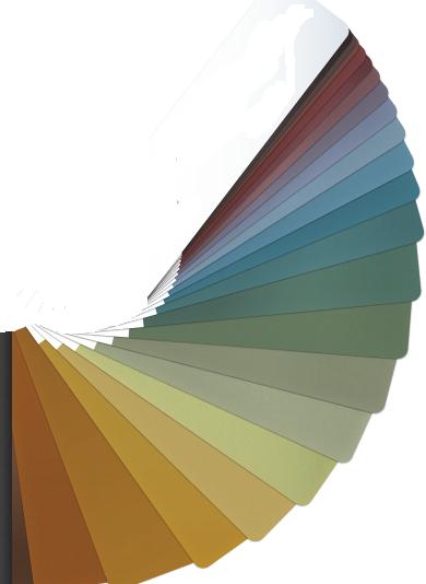 Différents coloris de zinc